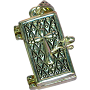 Opening Prayer Box Charm Sterling Silver Necklace Locket Pendant