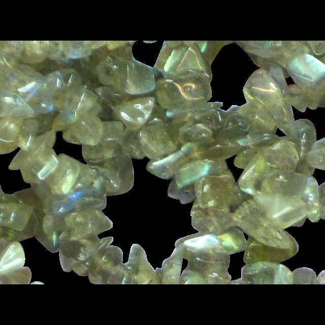 "Gemstones Labradorite Small Chunks 33"" Necklace"