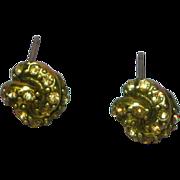 Monet Rhinestones Topaz Golden Love Knot Pierced Earrings