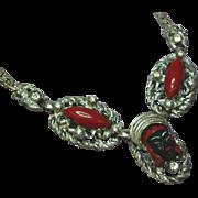 Selro Selini Asian Princess Unsigned Silver-tone Blackamoor Necklace