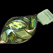 Lia Sophia Peacock Abalone MOP Large Classic Pendant