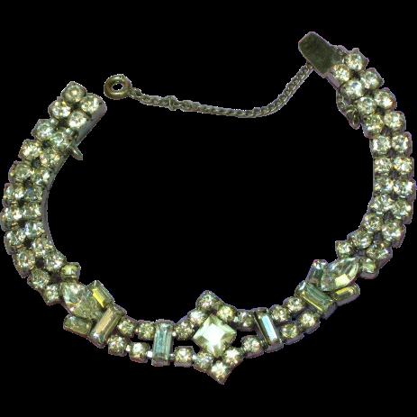 Rhinestones Fabulous Clear Unsigned Beauty Bracelet