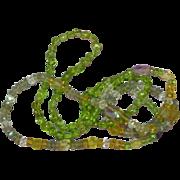 "Gemstones Citrine Amethyst Labradorite Crystal Quartz All Semi-Precious Faceted and Carved Gemstones  26"" Necklace"