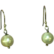 Pearl Dangle Earrings Sterling Silver Cultured Freshwater Pearls