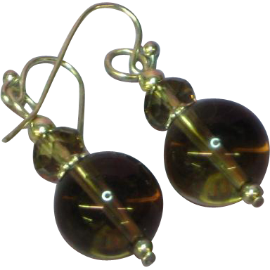 Genuine Smoky Quartz Rock Crystal Sterling Silver Earrings
