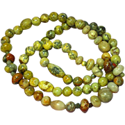 """Fancy Natural Stone Indian Agate 22"""" Bead Necklace"""