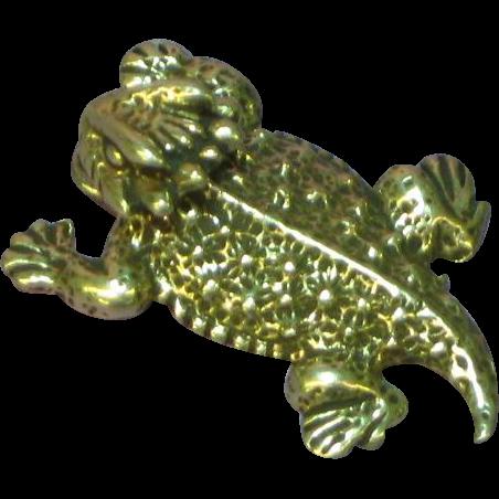 Southwestern Desert Sterling Silver Horned Toad Lizard Charm Pendant