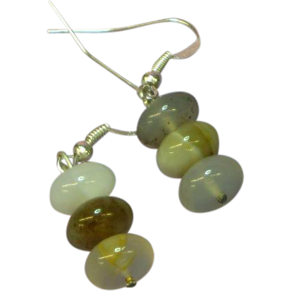 Gemstone Agate Bead Pierced Earrings