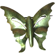 Sterling Silver Butterfly Pin Brooch