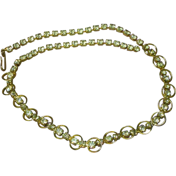 Rhinestones Sparkling, Bright Vintage  Necklace