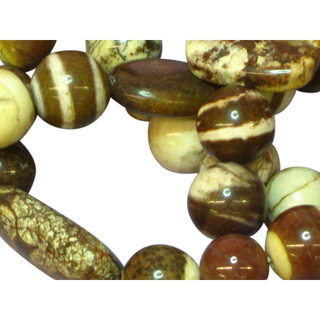 Gemstones Picture Agate Jaspers Mocha Latte  Necklace