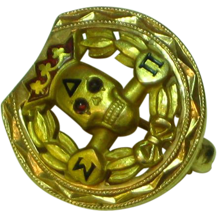 14k Yellow Gold Delta Sigma Pi Fraternity Penn State University Pin