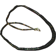 Native American Indian Large Graduated Heshi Necklace