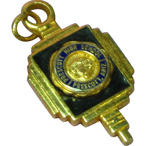 Prescott Arizona Gold High School Pendant