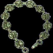 Religious Sterling Silver Roses Bracelet