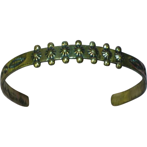 Native American Indian Sterling Silver Fred Harvey Vintage Estate Baby Bracelet