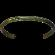 Native American Indian Sterling Silver Stamped Vintage Estate Child Baby Bracelet