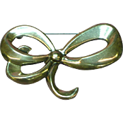 Jewelart Sterling Silver Marked Bow Pin Brooch