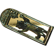Cat in the Mirror Heavy Rhodium Silver Tone Brooch Pin