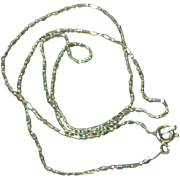 Sterling Silver Unusual Link Chain Necklace
