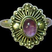 Gemstones Amethyst Cabochon Sterling Silver,Ring