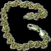Sterling Silver Multi Link Italian Woven Charm Bracelet