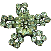 Vintage Signed Austria Rhinestone Stunning Clear Snowflake Pin Brooch