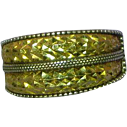 14 Kt Yellow Gold & Sterling Silver Textured Unisex Ring