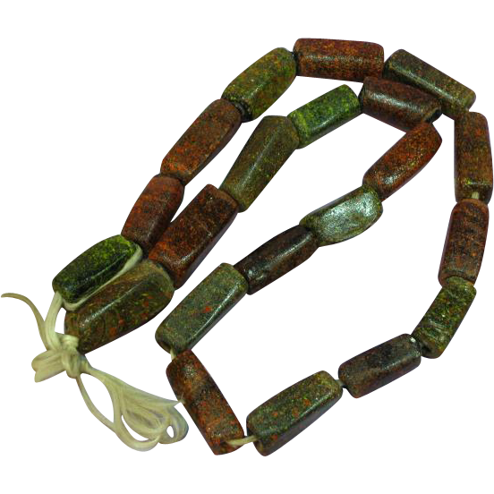 Trade Beads Ancient Large Hand Made Glass Beads Necklace