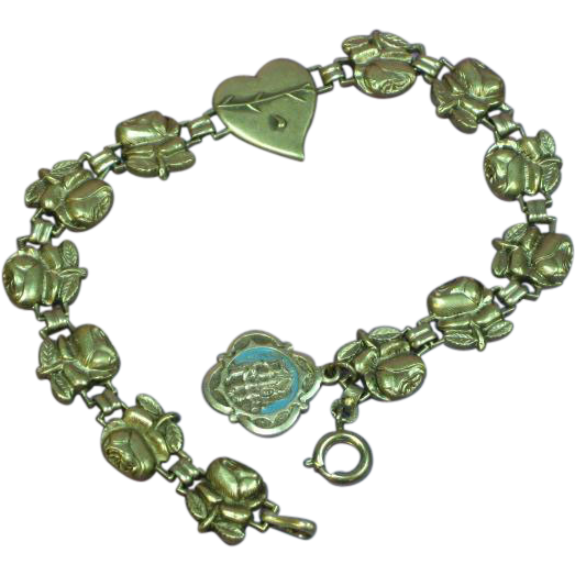 Catholic Rose Religious Devotional Bracelet