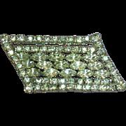 Kramer of New York Signed Sparkling Rhinestones Huge Dazzling Designer Pin Brooch