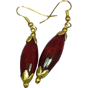 Gemstones Stunning Natural Brazilian Faceted Ruby Drop Pendant Pierced Earrings