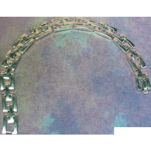 Simple Elegant Solid Sterling Silver Link Unisex Bracelet