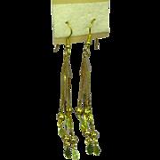 """50% OFF SALE Shoulder Duster 3"""" Long Dangle Goldtone Pierced Earrings"""