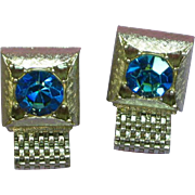 Cufflinks Watermelon Rhinestones Wrap Around Silver tone Cuff Links