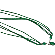 Native American Indian Hand Made Sterling Silver Malachite Heishi Necklace