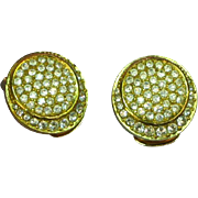 Christian Dior 1980s Pave Set with Swarovski Crystals Clip Earrings