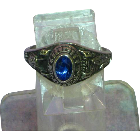 Jostens ©LTM High School Ring with Blue Stone Emmett High and Trisha Enswinger