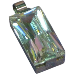 Gorgeous CZ Crystal in Stainless Steel Setting Pendant