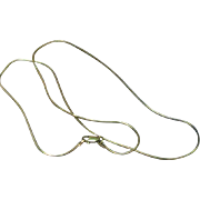 """Smooth Sleek Italian Sterling 19"""" Snake Chain Necklace"""