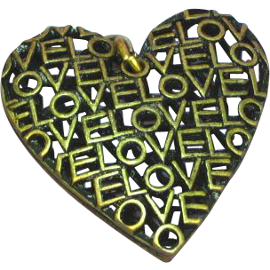 Big Love Brass Heart Necklace Pendant