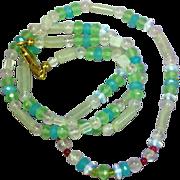 Gemstones Chalcedony, Moonstone, Amethyst, Rose Quartz and Ruby Necklace Pierced Earring Set