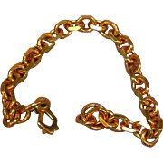 Copper Heavy Link Chain Bracelet