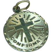 Sterling Silver Confirmation Medal or Medallion Charm or Necklace Pendant