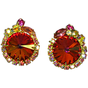 Juliana DeLizza & Elster Volcano Rivoli Clip Earrings