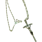 Sterling Silver Cross Crucifix Necklace