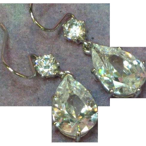 Bella Luce Sterling Silver Cubic Zirconia Drop Earrings