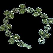Roses Religious Silver Plate Bracelet