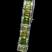 Bold and Beautiful Sterling Silver Gemstone Bracelet