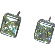 14K White Gold Marked CZ Pierced Earrings STOREWIDE SALE!